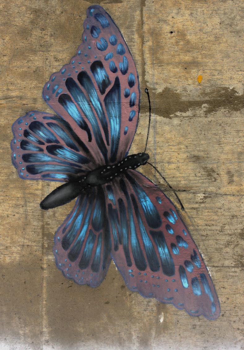 Walk On Through (Detail - Morphed Butterfly)